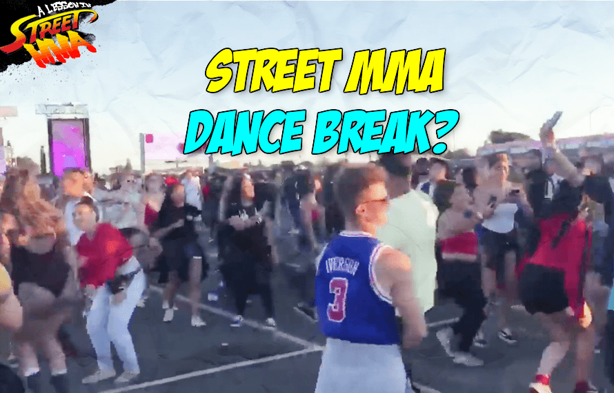 A Lesson in Street MMA: Female fight ends in a soccer kick, immediately turns into a massive dance party?