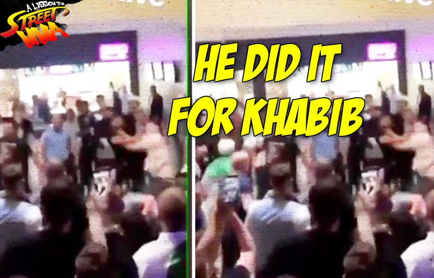 A Lesson in Street MMA: McGregor fan gets knocked out at UFC 229