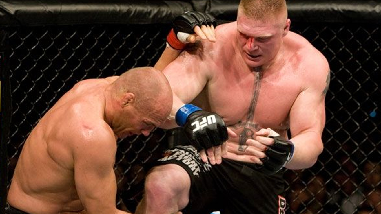 Brock-lesnar-Def-Randy-Couture-at-UFC-91 Randy Couture