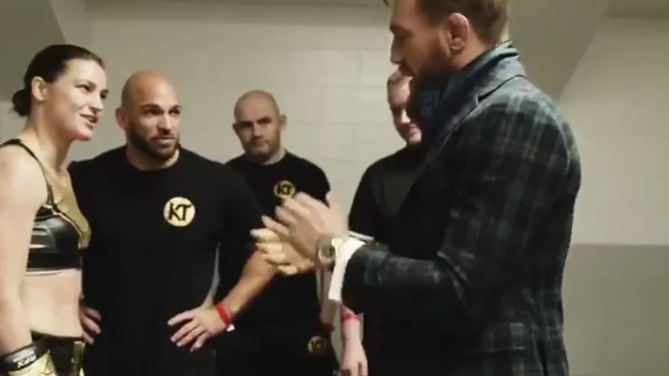Conor McGregor Visits Irish Boxing Champion Katie Taylor Before Her Title Defense In Boston