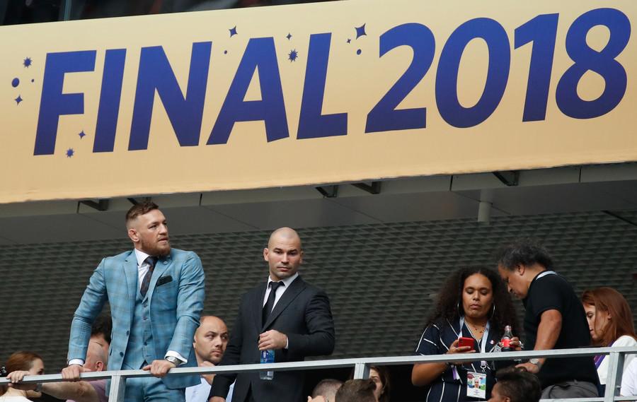 Conor-Mcgregor-Artem-Lobov-1 Conor McGregor, Khabib Nurmagomedov Were Present At FIFA World Cup Final In Russia