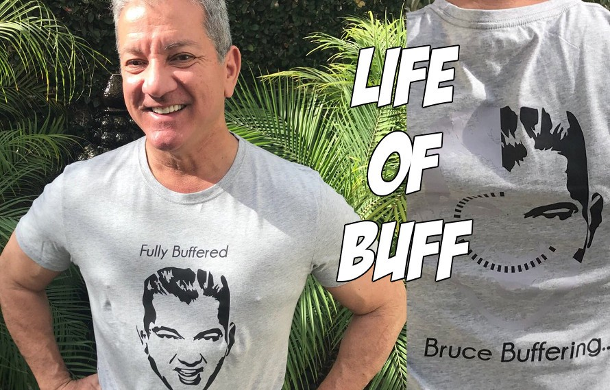 Video: Excited fan yells something about butts to Bruce Buffer & his lady friend