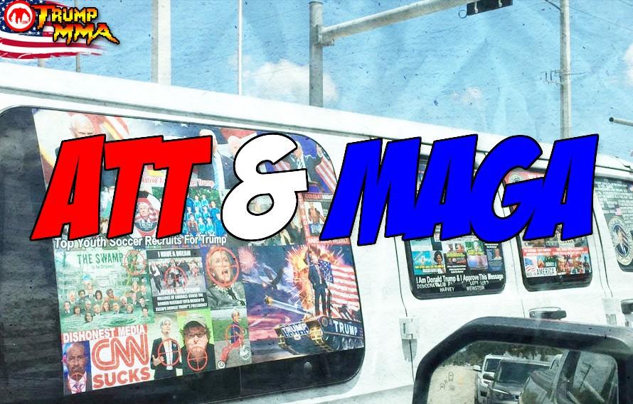 Pics: MAGA bomber had American Top Team stickers on his creepy van