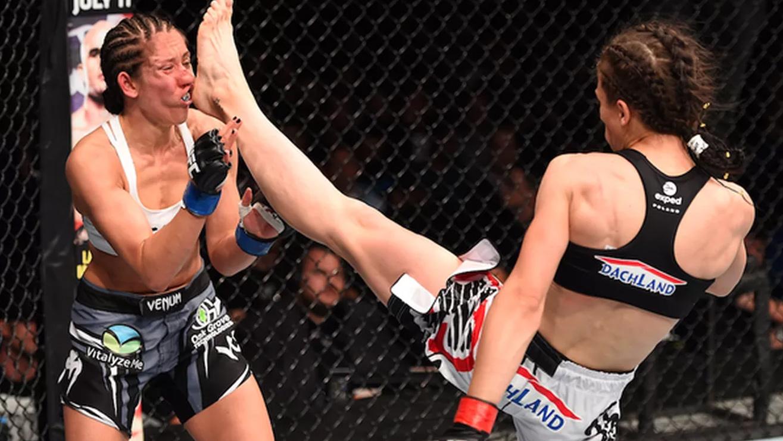 Jessica-Penne-Joanna-Jedrzejczyk-UFC-fight-night-69 Joanna Jedrzejczyk
