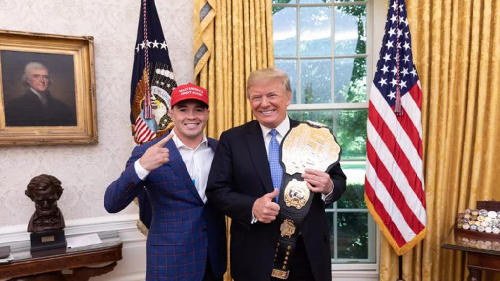 Surprise: Colby Covington Visited Donald Trump With Dana White In White House!
