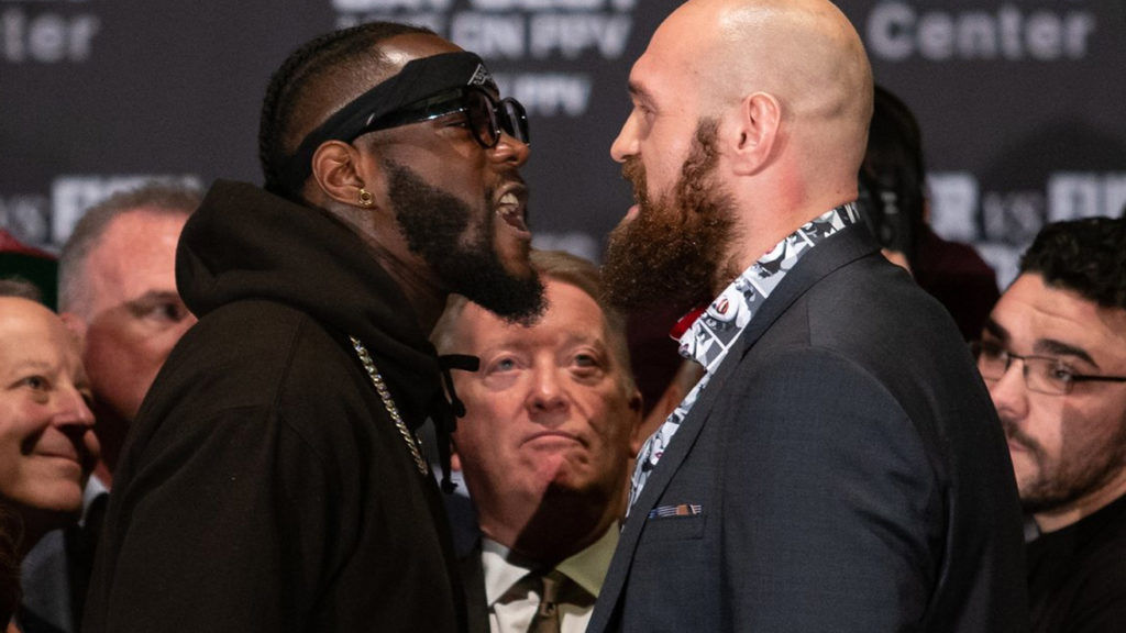 (Video) Deontay Wilder and Tyson Fury's Face Off Leads to Shoving War
