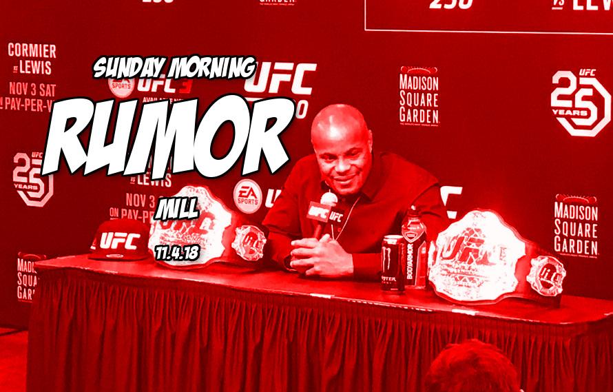 DC vs. Brock Lesnar holdup, Khabib vs. GSP & more in the Sunday Morning Rumor Mill