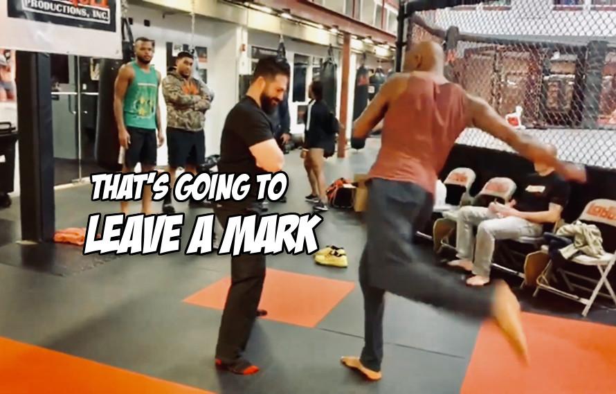 Video: Jon Jones kicks the hell out of his chiropractor's leg