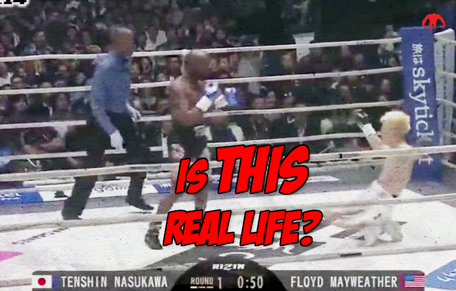 Fight Video: An out of shape Floyd Mayweather just destroyed Tenshin Nasukawa