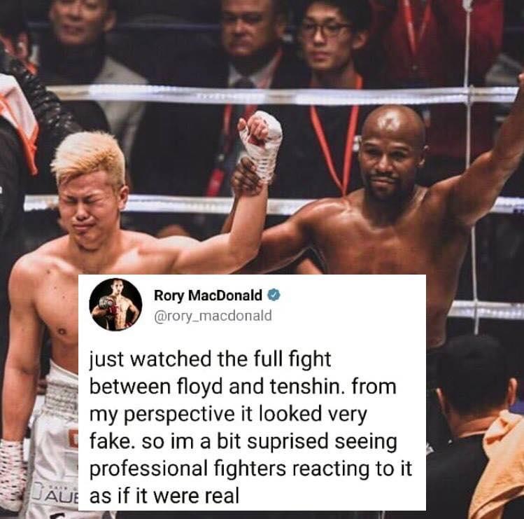 49731886_10157215147759345_8430923890405933056_n Pic: Rory MacDonald doubles down on calling Floyd vs. Tenshin a fake fight