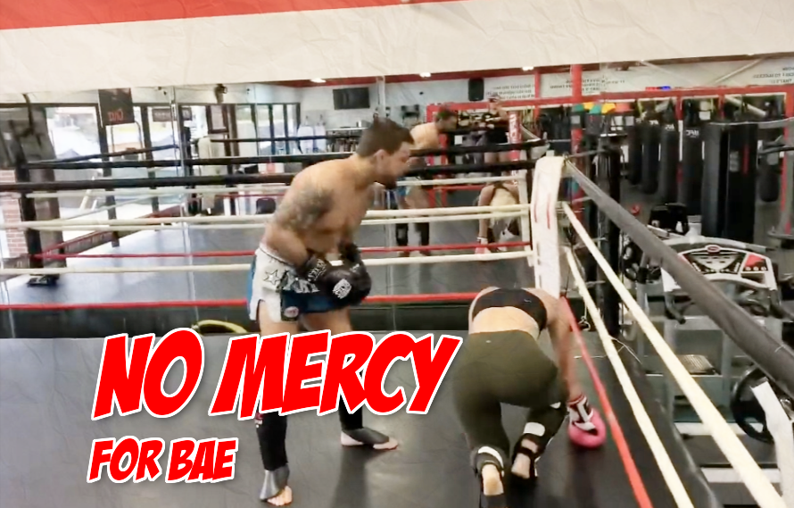 Video: Mike Perry drops his girlfriend during a hard sparring session, because of course he does