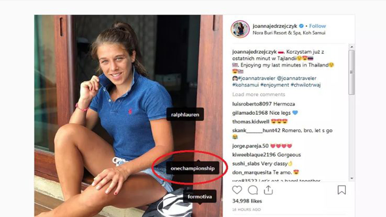 jj-controversy Joanna Jedrzejczyk Tagged, Then Deleted ONE Championship On Instagram
