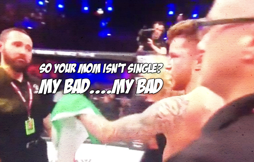 Watch: Did James Gallagher punk a referee for touching his mom in the cage?