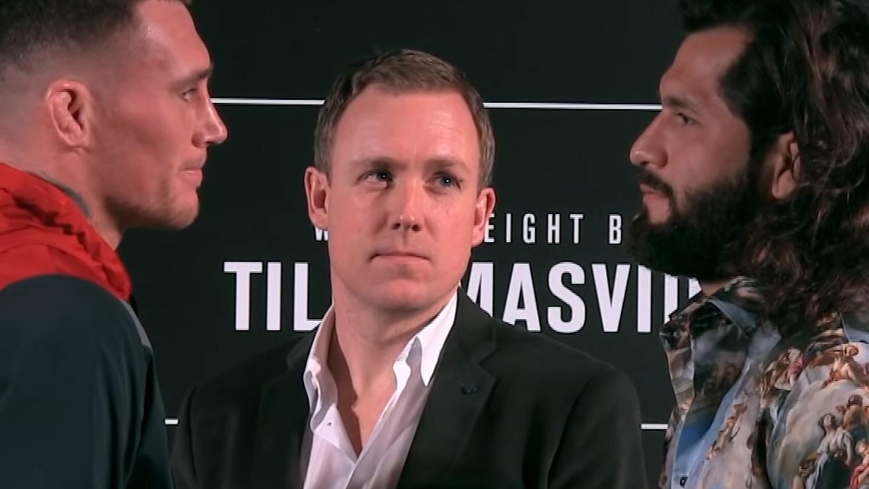 Video: Darren Till vs. Jorge Masvidal Intense Smiling Face Off From UFC London Media Day
