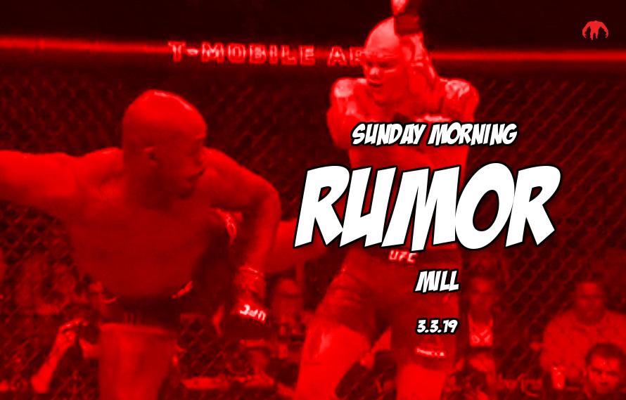 Jones vs. Santos, McGregor camp change & more in the Sunday Morning Rumor Mill