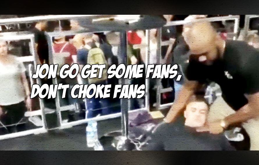 Video: Dumb fan asks Jon Jones to choke him out, Bones does too good of a job