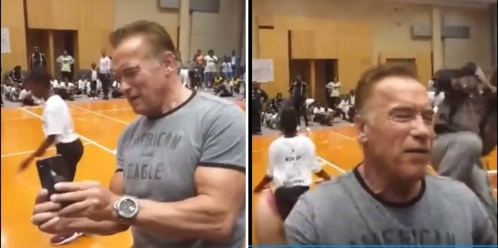 WATCH: Arnold Schwarzenegger Gets DROPKICKED At Arnold Classic In South Africa