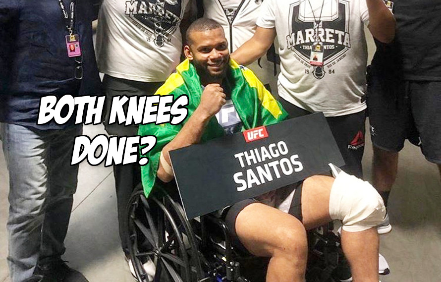 Doctors say Thiago Santos has an insane amount of damage to his knee, somehow still finished fight with Jon Jones