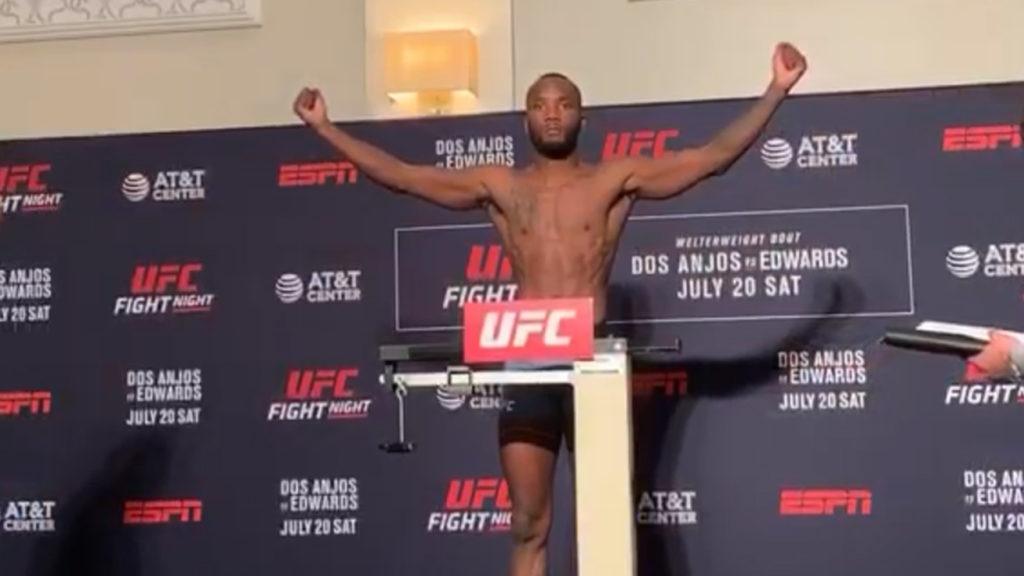 UFC San Antonio 'Dos Anjos vs. Edwards' Weigh-In results