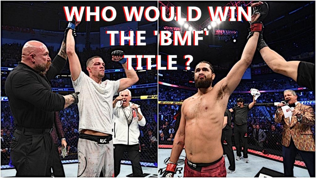 "Nate Diaz wants Jorge Masvidal Next To Defend His NEW BMF ""Title Belt"""
