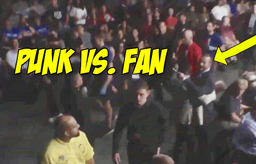 CM Punk Has Minor Altercation With Fan at MMA Show