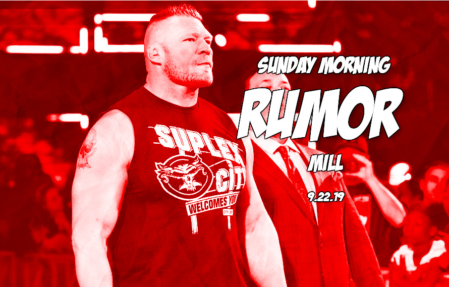 Brock update, UFC stadium show, & more in the Sunday Morning Rumor Mill