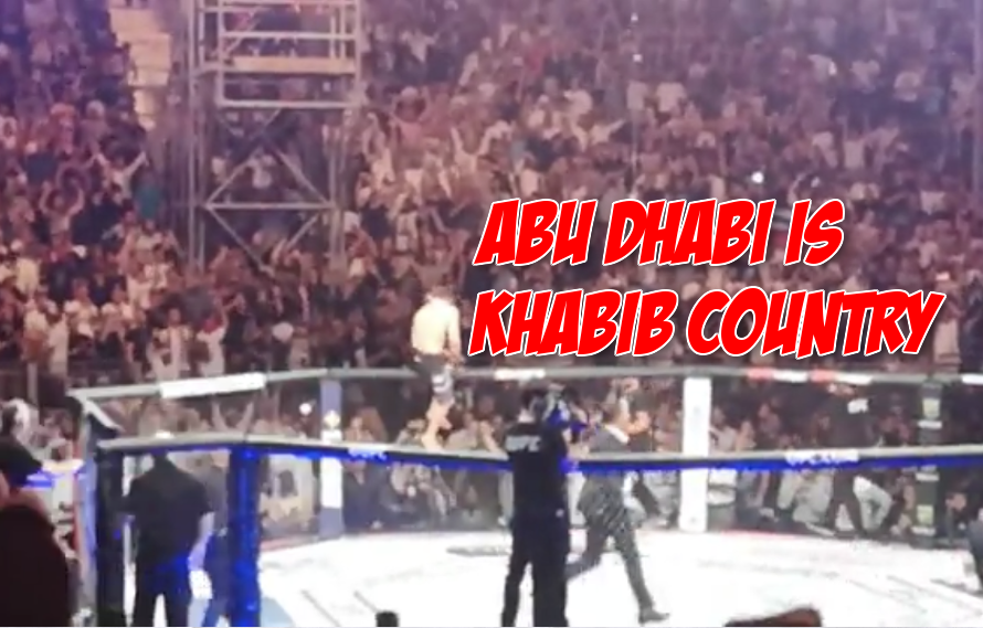 Video: Khabib choking out Dustin Poirier is even better from the crowd's perspective