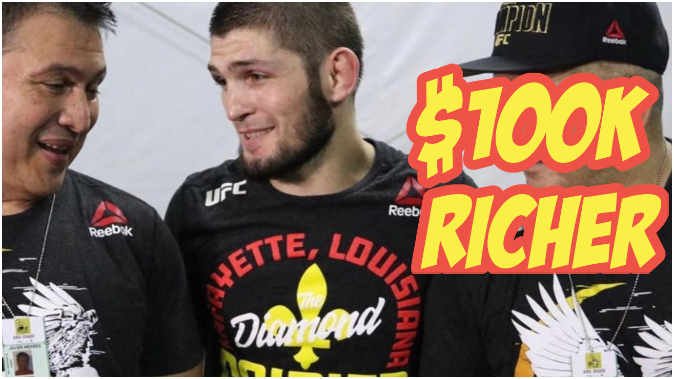 Dustin Poirier Confirms Khabib's Auctioned Shirt Sold For $100,000 – MiddleEasy.com