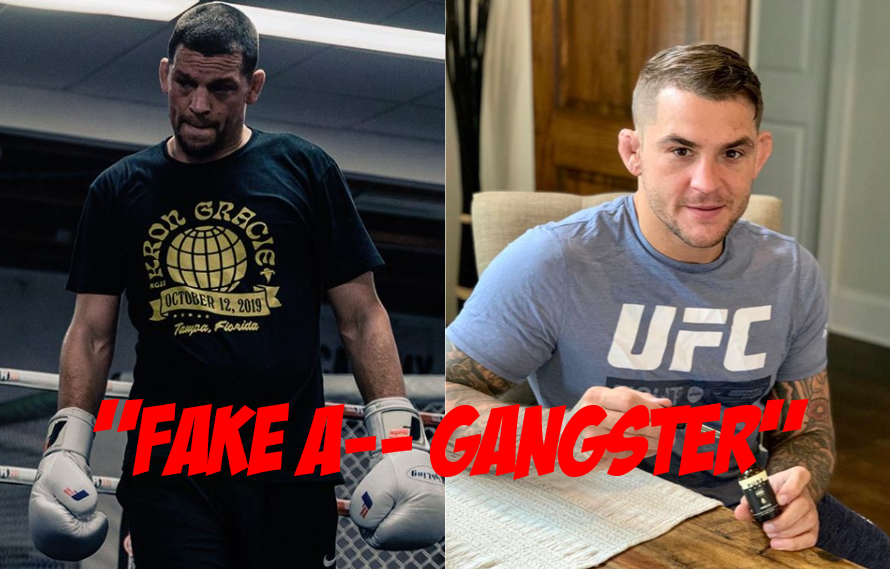 Dustin Poirier Slams 'Fake A– Gangster' Nate Diaz; Diaz Fires Back