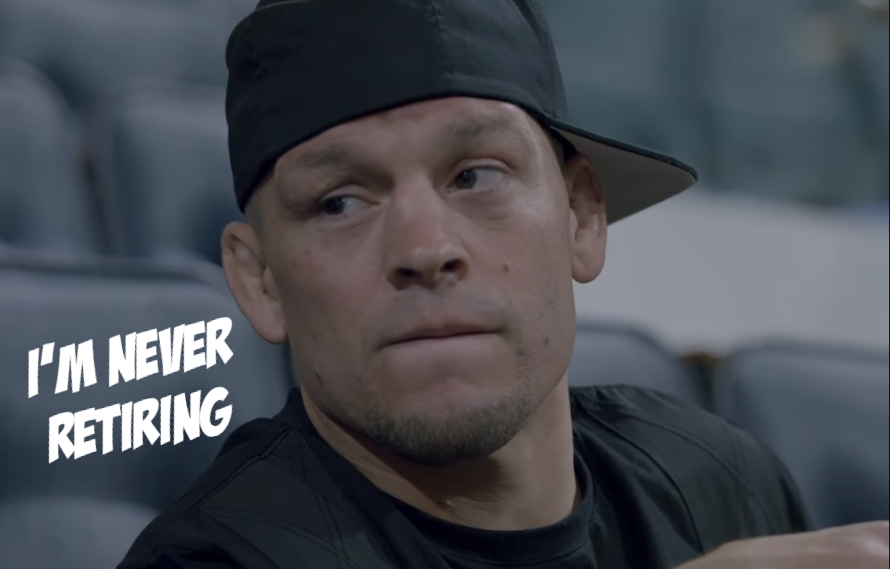 Nate Diaz: 'I'm Never Going To Retire, That's For Sure'