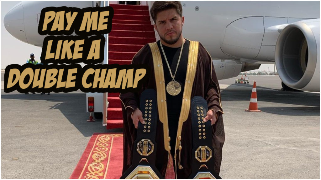 """Henry Cejudo Not Sure Which Title To Defend First, Wants """"Legend"""" Pay"""