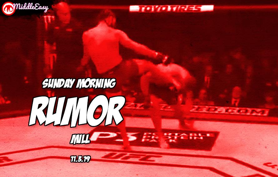 Jorge vs. Nate rematch, McGregor update, & more in the Sunday Morning Rumor Mill