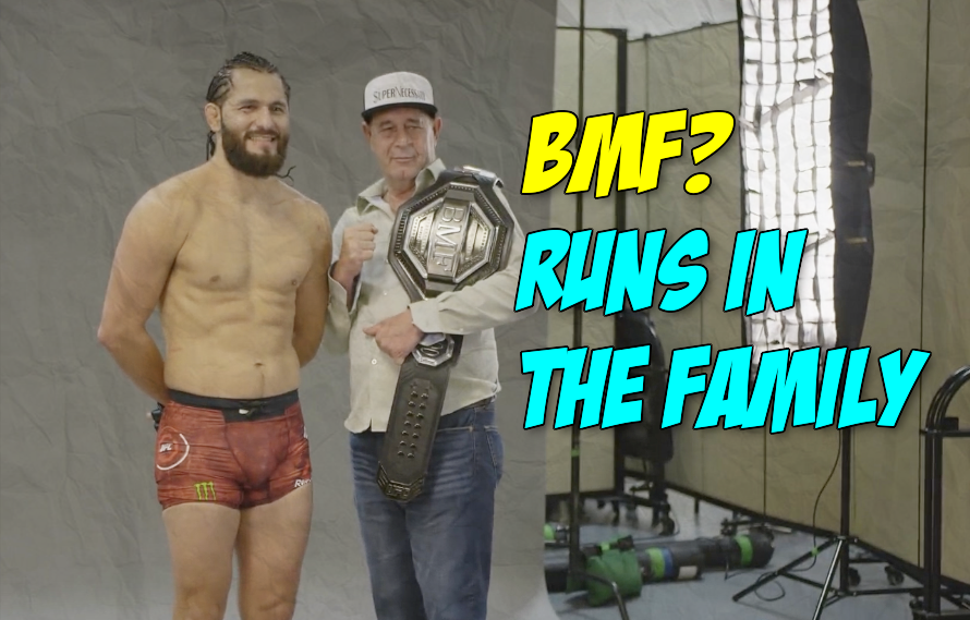Watch: Of course Jorge Masvidal let his dad hold the BMF belt first