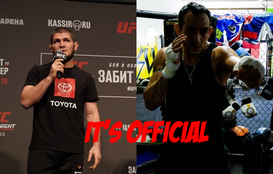 BREAKING: Tony Ferguson Signs Contract, Khabib Fight Official For April 18th!