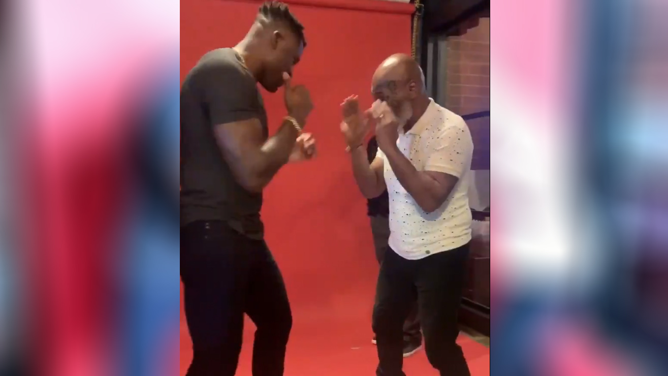 Mike Tyson Teaches Francis Ngannou New Boxing Moves