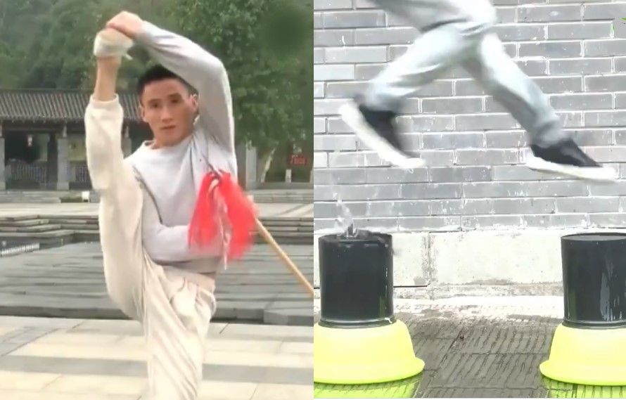 Kung Fu Master Can Literally Walk On Water In Video!