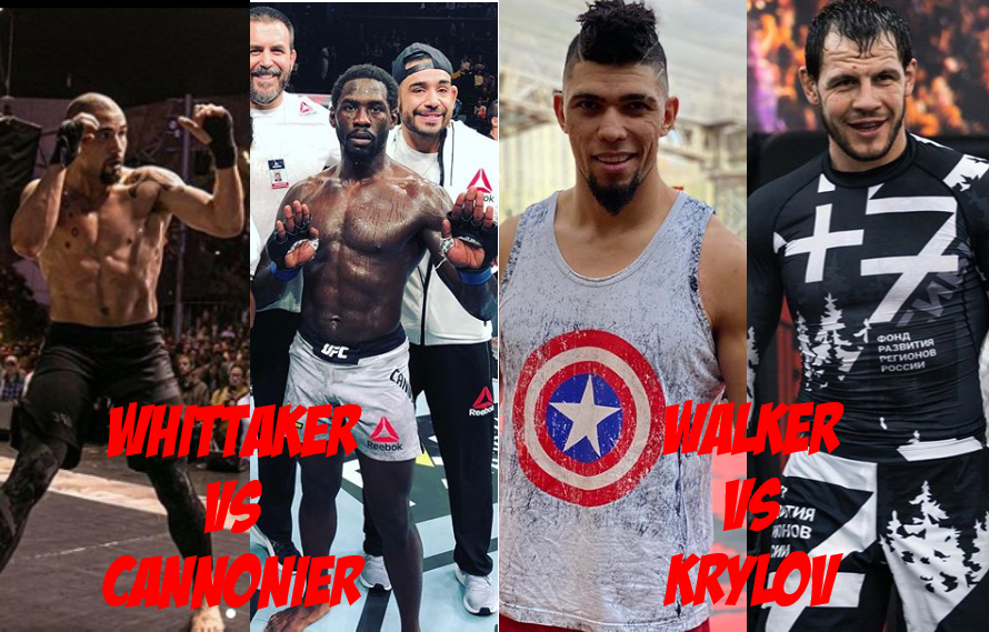 Report: UFC Looking To Book Whittaker vs Cannonier, Walker vs Krylov For March