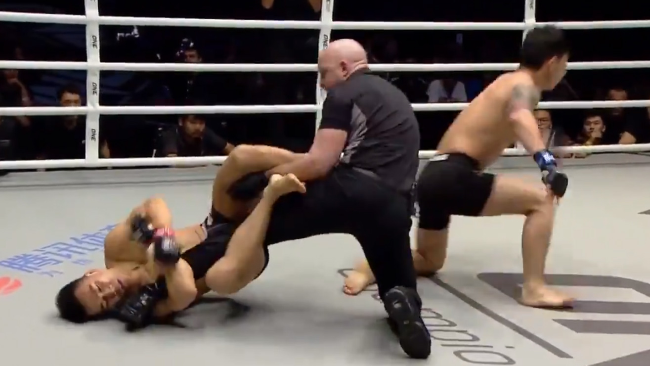 VIDEO: Fighter Gets Knocked Out Then Submits Referee At ONE Championship