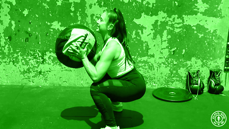 Medicine Ball Squat To Throw