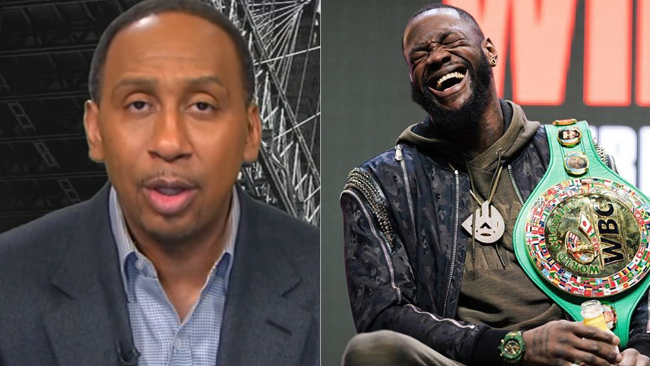 Stephen A Smith BLASTS Deontay Wilder for Costume Excuse