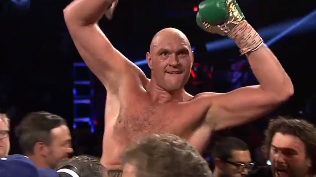 Tyson Fury Parties HARD After Dethroning Deontay Wilder