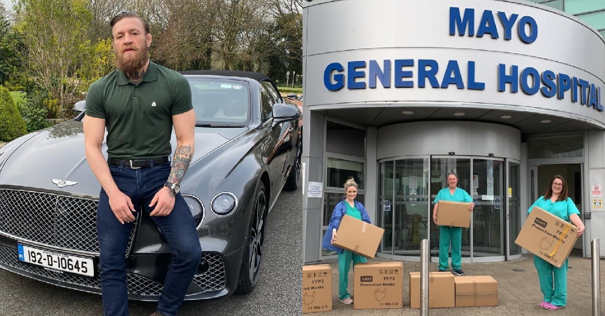 Conor McGregor Provides Insane Amounts Of PPE For Irish Hospitals