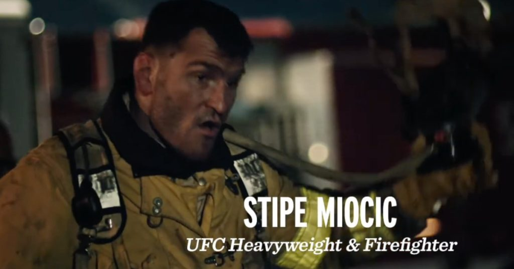 Stipe Miocic Stars As Modelo Donates $500,000 To First Responders