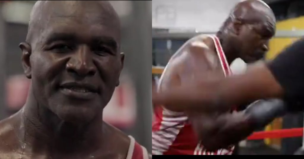 Evander Holyfield Responds To Mike Tyson With His Own Training Footage: 'I'm Back' Too!