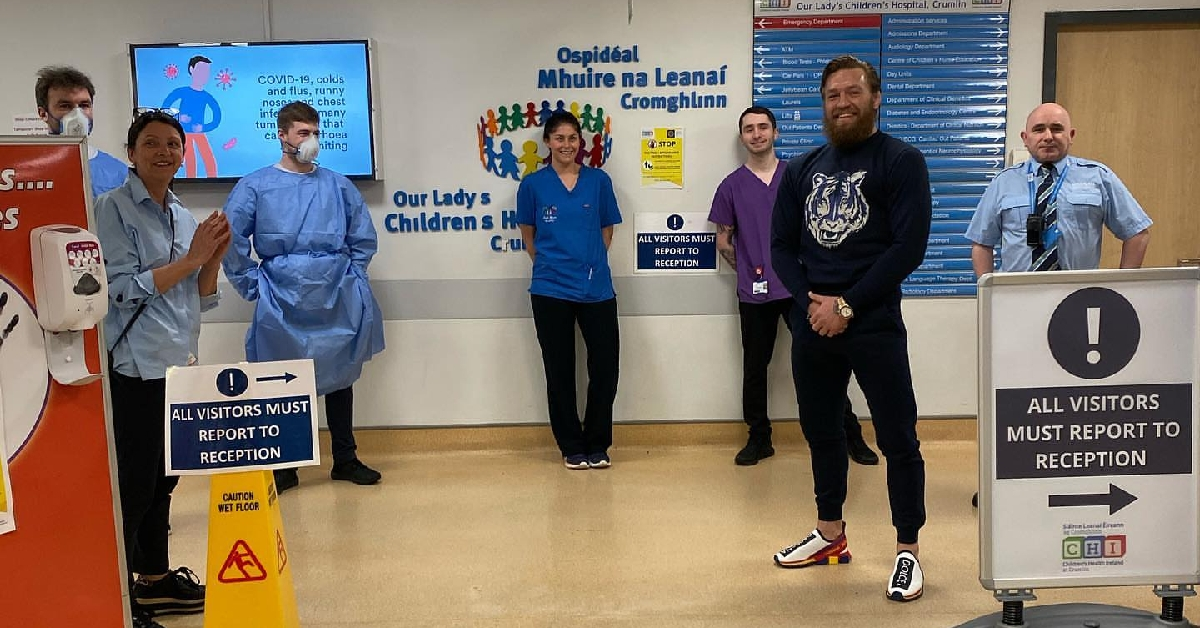 Conor McGregor Personally Delivers Supplies To Children's Hospitals In Ireland