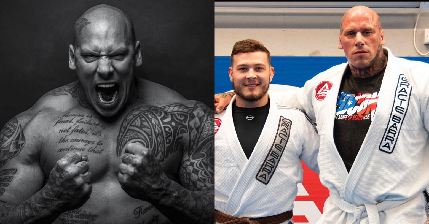 Freak Bodybuilder Martyn Ford Returns To The Mats With Some BJJ Training To Prepare For MMA Debut