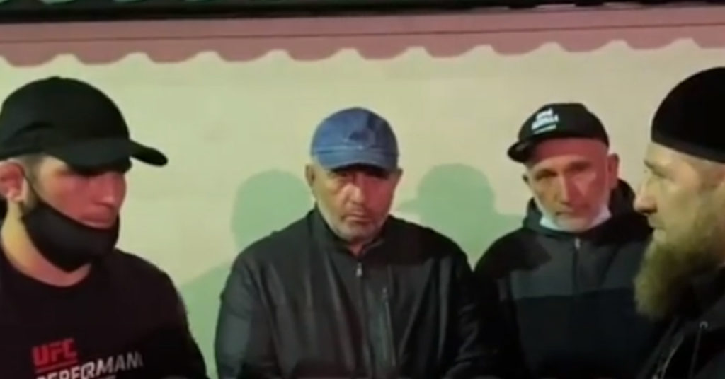 Ramzan Kadyrov Seen Comforting Khabib After His Father's Death (Video)