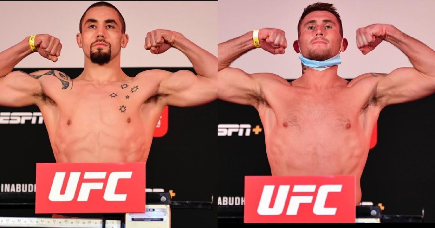 UFC on ESPN 14 Weigh In Results: Robert Whittaker and Darren Till Make Weight For Main Event