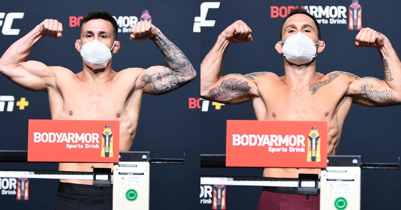 UFC on ESPN 15 Weigh In: Frankie Edgar Makes Bantamweight For Debut Against Pedro Munhoz