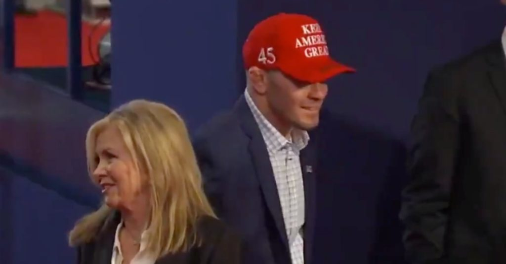 (Video) Colby Covington Attends Presidential Debate As Donald Trump's Guest